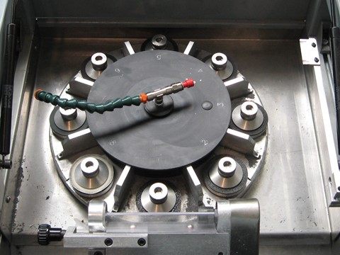 Test tubes lapping rotary table machine