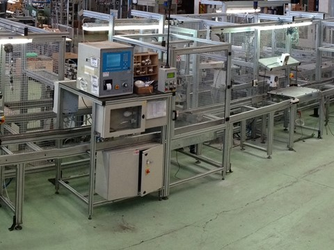 Road lights production line automation